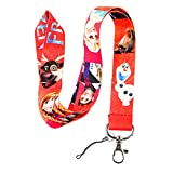 Red Disney's Frozen Print Keychain Key Chain Lanyard Clip with Webbing Strap Quick Release Buckle