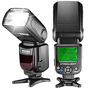 Neewer NW620 Manual Flash Speedlite with LCD Display for Canon Nikon Panasonic Olympus Pentax and Other DSLR Cameras,Such as Canon7D Mark II,5D Mark II III IV,1300D,Nikon D7200,D7100,D7000,D5500,D5300