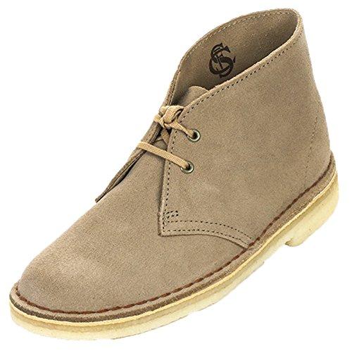 Clarks Originals Stivali Desert Boot, Donna, Beige (Beige (SAND SUEDE)), 37.5