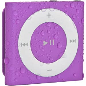 Waterfi 100% Waterproof iPod Shuffle with Dual Layer Waterproof/Shockproof Protection (Purple)