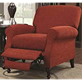 Coaster Home Furnishings Traditional Push Back Recliner, Black/Wine Red