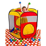Durable Exciting Hexagon Ball Pit Play Tent With Convenient Zippered Compact Storage Case / Indoor O