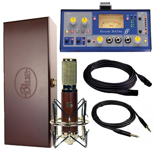 Blue Microphones Woodpecker Ribbon Mic W/ Shockmount, Focusrite Isa One, Mogami Cables Bundle
