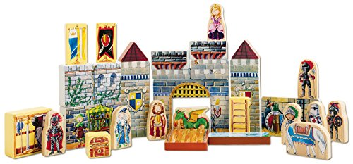 T.S. Shure Archiquest Wooden Castle Blocks Playset and Storybook