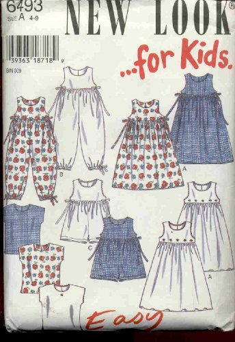 New Look 6493: Girls Dress Or Romper, Sizes 4-9 front-57679