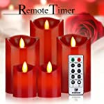 Battery Operated Candles Red Flameles...