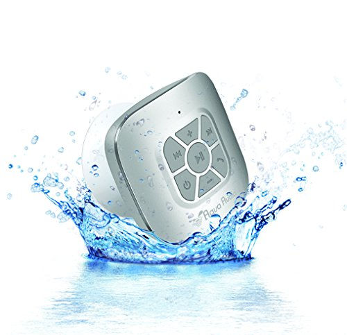 The Aquaaudio Cubo Waterproof Bluetooth Wireless Speaker With Strong Suction Cup For Showers