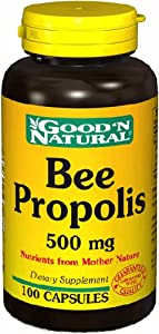 Bee Propolis 500mg - 100 caps,(Good'n Natural)