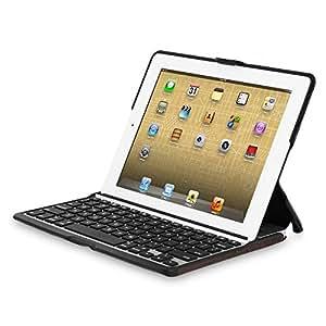 Zagg ZAGGfolio Case w/ Bluetooth Keyboard for Apple iPad 2 / 3 - Alligator Leather Brown w/ Silver Keyboard - BULK Packaging