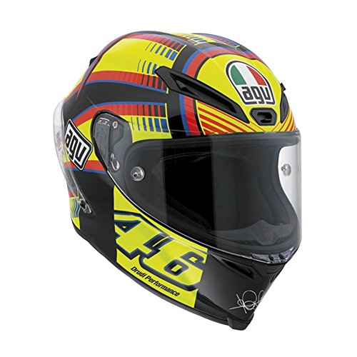 AGV Corsa Soleluna Full Face Motorcycle Helmet (Black/Yellow/Red/Blue, Large)