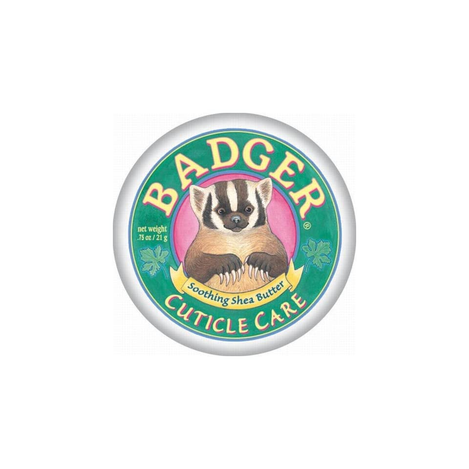 Badger   Cuticle Care With Wild African Shea Butter, .75 oz balm