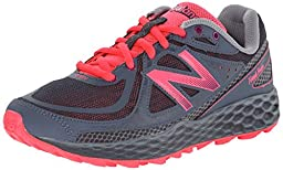 New Balance Women\'s Fresh Foam Hierro Trail Shoe, Grey/Pink, 12 B US
