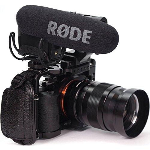 Rode-VideoMic-Pro-Rycote-Microfono-Mono-Direzionale-a-Condensazione-Mezzo-Fucile-Ultra-Compatto-Professionale-con-Supporto-Rycote-Nero