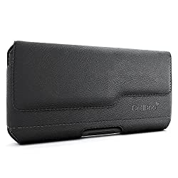 Galaxy Note 5 Holster, CellBee Premium Leather Pouch Carrying Case with Belt Clip Belt Loops Holster for Samsung Galaxy Note 5 (Perfect Fits OtterBox / LifeProof) (Fashion City)