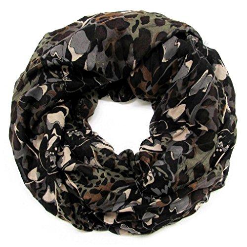 accessu-Echarpe-Foulard-pour-Femme-Floral-Leo-Print-Floral-Camouflage-Design