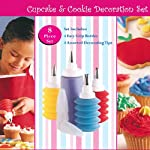 CostMad TM 8 Piece Baking Cupcake Birthday Wedding Party Kids Cake Cookie Cake Decorating Multi Coloured Frosting Icing Desert Gift Set by CostMad