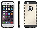 iphone 6s case zoyee anti slip shockproof rugged protection anti scratch hybrid dual layer cover case for apple iphone 6  iphone 6s 47 inch golden