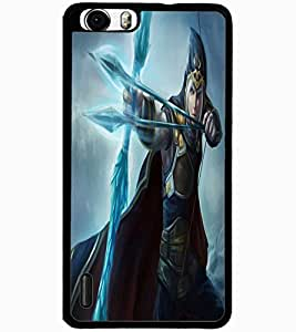 ColourCraft The Warrior Design Back Case Cover for HUAWEI HONOR 6 PLUS