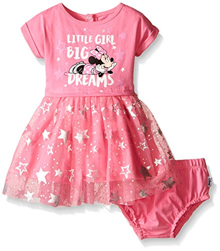 Disney Baby Girls' Minnie Mouse Knit Dress Set, Pink, 6-9 Months (Pack of 2)