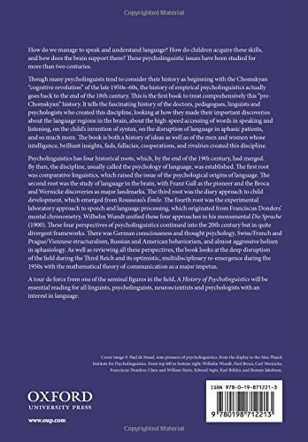 A History of Psycholinguistics: The Pre-Chomskyan Era