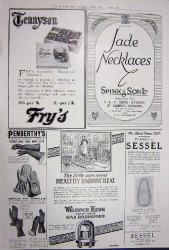 Advertisement 1922 Harvey Nichols Shaftesbury Fry'S