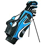Masters MC-Z350 Men's Left Hand Steel Hybrid C/P 1 X C/Bag 9 Inch - Black/Blue