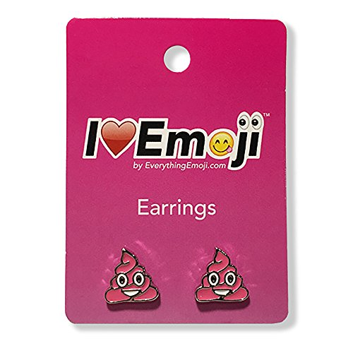 Everything Emoji | Pink Poo Silver Stud Earrings | Cute Emoticon Jewelry | Gifts & Accessories