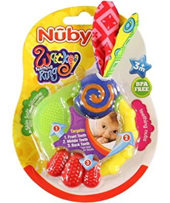 Nuby Wacky Teething Ring by Nuby