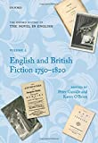 The Oxford History of the Novel in English: Volume 2: English and British Fiction 1750-1820