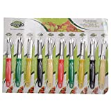 DIVYA Stainless Steel Peeler, Set Of 10 - B011V4GVZ6