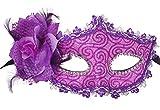 Venetian Masquerade Máscara con Flor Fiesta Cosplay Disfraces de Halloween Mardi Gras