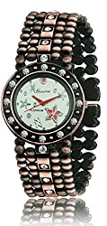 Geneva Platinum Antique Bracelet Analog Whte Dial Womens Watch- GP-194