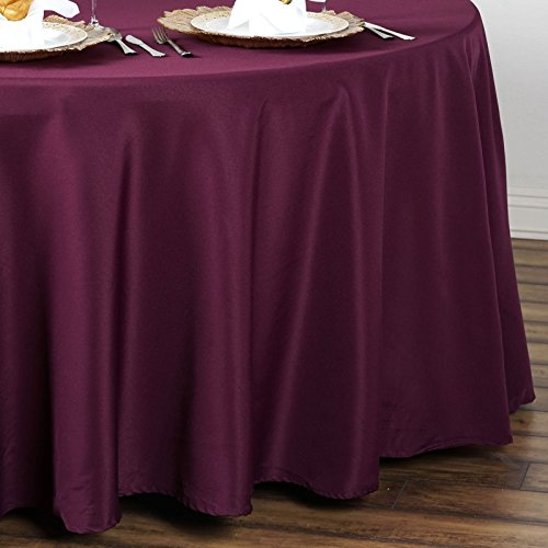 Linentablecloth 90 Inch Round Polyester Tablecloth