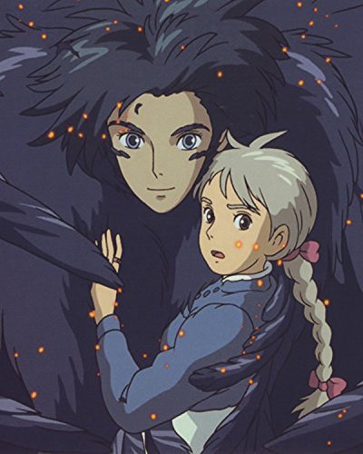 Blooming flowers Howl Moving Castle photo poster S Ghibli Studio Calcifer Figure Miyazaki Cominica Hayao Wall Art 24x36inches (Crystal Castles Poster compare prices)