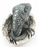 Jurassic Era Predator Velociraptor Breaking Out Of Egg Dinosaur Figurine Hatchling Collectible Sculpture