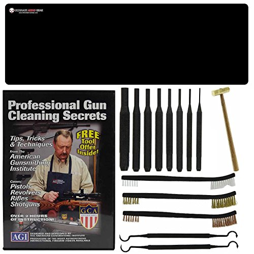 AGI DVD Gun Cleaning Course Secrets Winchester Model 12 21 1200 1300 SUPER-X + Ultimate Arms Gear Bench Mat + 8pc Punch Tool Set Kit + Brass Hammer + 3 Brushes & 2 Picks (Winchester Model 21 compare prices)