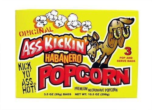 Ass Kickin' Habanero Microwave Popcorn 3 Pak (10.5 Oz)