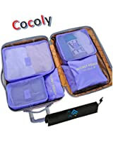 Cocoly 6 Set travel Organizers Packing Cubes Luggage Organizers Compression Pouches With Laundry Bag