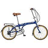 Viking Belmont 20 Inch Wheel Folding Bike - Blue, 13 Inch
