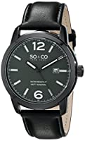 SO&CO New York Men's 5011L.3 Madison Analog Display Quartz Black Watch from SO&CO MFG