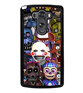 Fuson Premium 2D Back Case Cover Cartoon robots With Multi Background Degined For LG G3::LG G3 D855