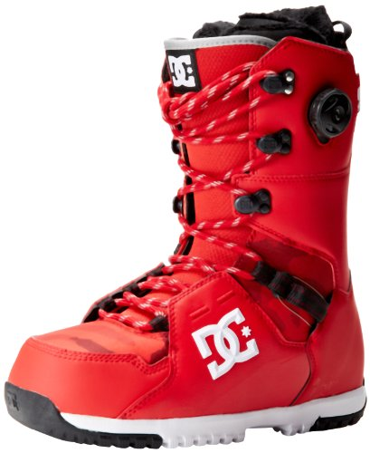 DC Men's Kush Snowboard Boot,Red,9 US/9 M US