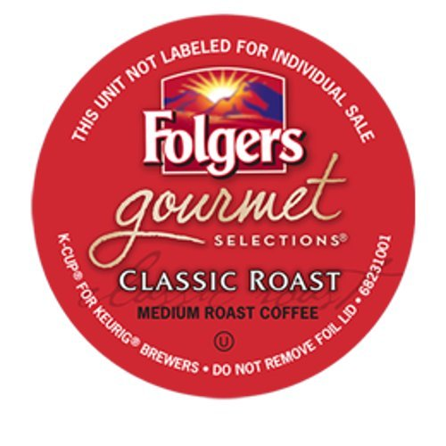 Folgers Gourmet Selections Classic Roast Coffee Keurig K-Cups, 108 Count (Folgers Gourmet Classic Roast compare prices)