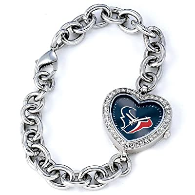 NFL Women's FH-HOU Heart Collection Houston Texans Watch