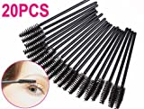 SODIAL(TM) 20PCS Mascara Wands Brushes For Eyelashes Extensions applicator