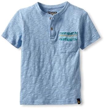 Lucky Brand Little Boys' Hiro Pocket Henley T-Shirt, Blue, 4
