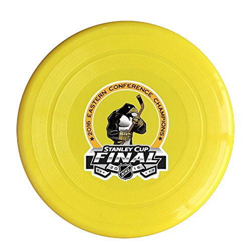 Plastic Champions Pittsburgh Hockey 2016 Sport Dogs Flying Discs Yellow