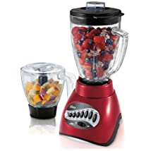 Oster BLSTCC-RFP 16 Speed Blender with Food Processor Red
