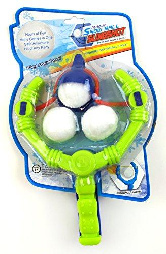 Indoor Snowball Slingshot with 3 Indoor Snowballs assorted Colors