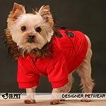 Is Pet Designer Dog Apparel - Murphy Paddington Coat - Color: Red, Size: XS
